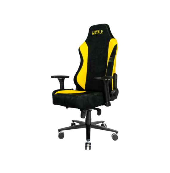 ROYALE CHAIRS SUEDE YELLOW-43